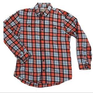 Duluth Trading Company flannel shirt orange - M